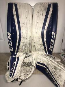 Ccm Premier goalie pads glove and blocker INT 32+1
