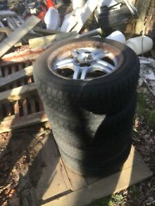4 tires and rims for sale. 195/60/15.  5 bolt pattern