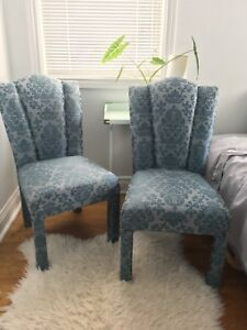 2 beautiful blue accent chairs $200 for both