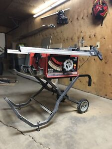 Table saw, miter saw and router combo deal