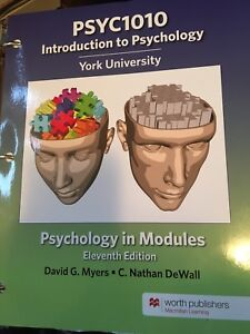 Psychology In Modules Myers Kijiji In Ontario Buy Sell Save