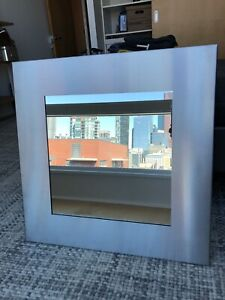 Mirror with Stainless Steel Frame