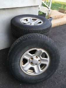 4 Winter tires with rims for Jeep Wrangler (used)