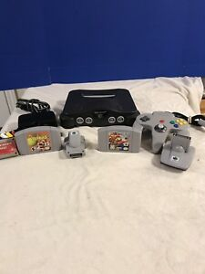 Complete Nintendo 64 N64 with two Mario Games
