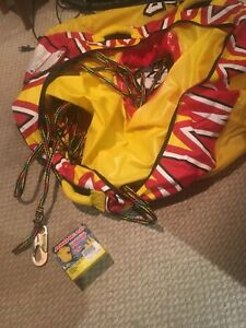 Seadoo life jackets, water shoes, tube and air pump, wet suit