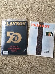 Playboy 50th Anniversary Issue NEW SEALED + Vintage 1955 issue
