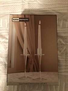 New in Box - HomeElements Glass Taper Candleholders - $10