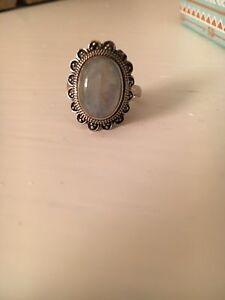 Sterling Silver Moon Stone Ring