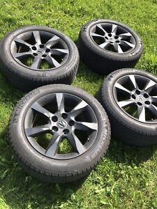 Acura TL mags 17 inch summer tires 500 firm