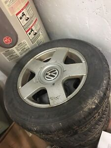 """VW OEM 15"""" Alloy Rims and Tires"""