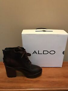 Aldo Leather Heel Boots
