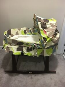 Moses bassinet and rocking stand $65