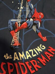Twin size pottery barn Spider-Man bedding.