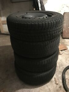 195 65 r15 Michelin X-ice winter tires on steel rims