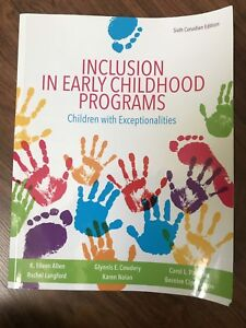 Inclusion In Early Childhood Program Great Deals On Books Used