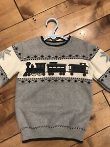 Holiday Train Sweater SZ 5T