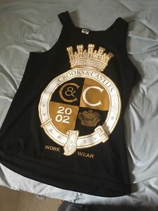 Crooks and castles mens tank top