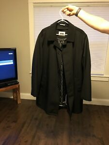 Men's size XXL overcoat with removable liner