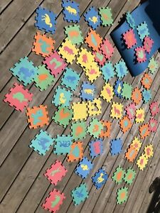 Puzzle mat- animal shapes- foam, alphabet numbers