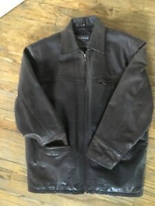 Brown leather jacket. XL