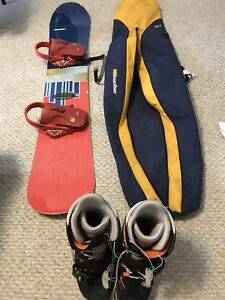 Burton snowboard, step in boots and bindings