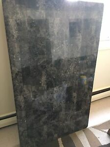 Faux granite dining table