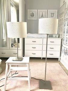 IKEA ALÄNG Table Lamp, nickel plated, white