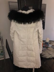 White winter coat with fur