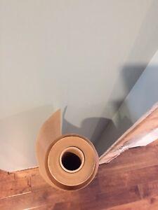 Wax paper hardwood underlay