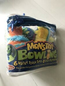 Monster Plush 6-Pin Bowling Game With Carrying Case