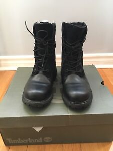 Ladies Timberland black leather boots size 6