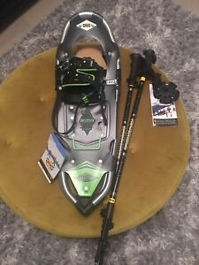 NEW Atlas Treeline 25 Men's Snowshoes & Poles