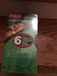 Free - New 6 pack of VHS tapes