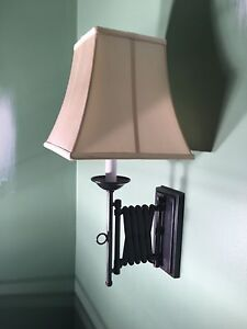 Hardwired Pottery Barn Swing Arm Wall Sconces  (2)