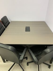 Big Office Table and Chairs (conference table and 6 chairs)