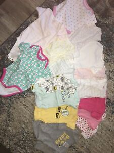 Baby girls clothes almost new size 0-3 months