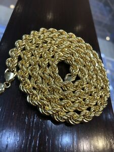 "Rope chain extra thick 10k gold 40g length 32"" price firm"
