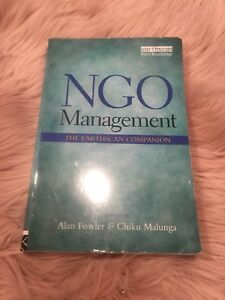 NGO Management textbook! Only $40for Business student!