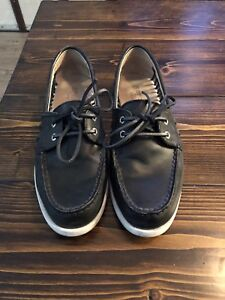 Sperry's black leather womens 9