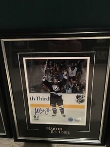 Martin St Louis signed framed 8x10
