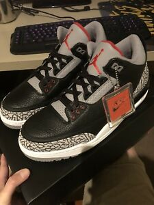 21aedb246b4 WTS/WTT Air Jordan 3 Black Cement US10