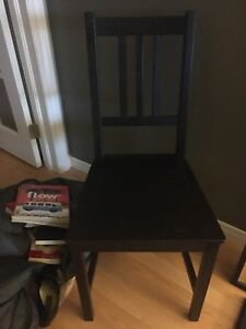 Wooden ikea chair black $10