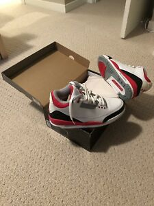 Air Jordan 3 Fire Engine Red Size 9 (mint)