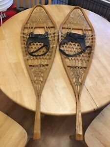 Beautiful old snowshoes in mint condition