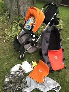Bugaboo Cameleon with Peg Perego car seat with base and extras