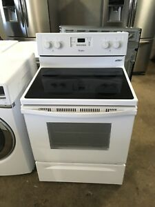 1 year old maytag glass top stove