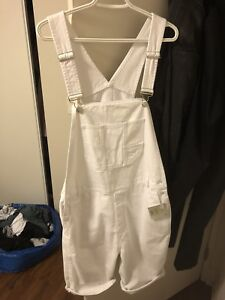 Denim white overalls - brand new with tags