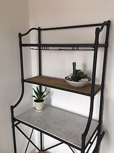 Marble and wood storage shelves for sale
