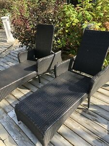 High quality resin wicker lounge chairs