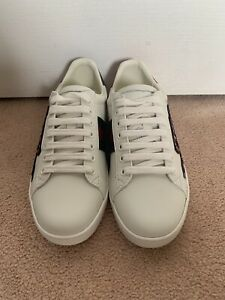 ca1f9feb6fc Gucci Ace Leather Sneaker White Snake